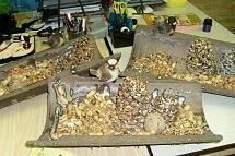 Vogelvoerplek van dakpan