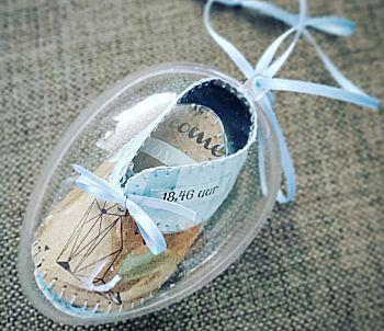 Babyschoentje van geboortekaartje knutselen