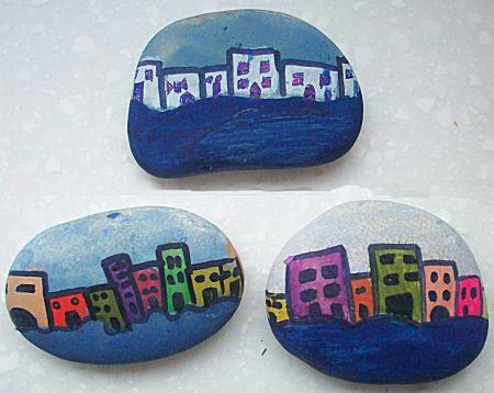 Huisjes op kiezelsteen