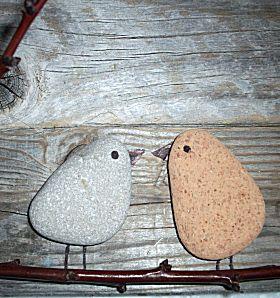 Kiezelsteen vogeltjes