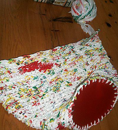 Tas breien van plastic zakken