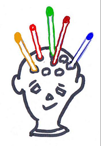 Hoofd voor potloden