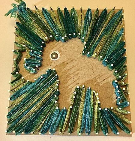 Spijkerschilderijtje Olifant