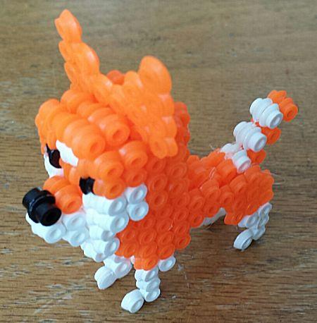 Hond in 3D met strijkkralen