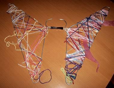 Vlinder van kledinghangers