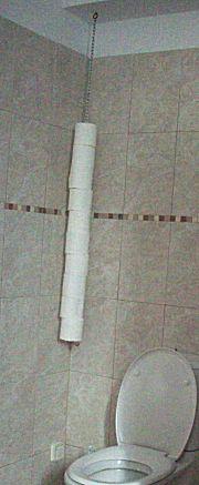 Hangende wc rol houder lekker knutselen - Kleur wc idee ...
