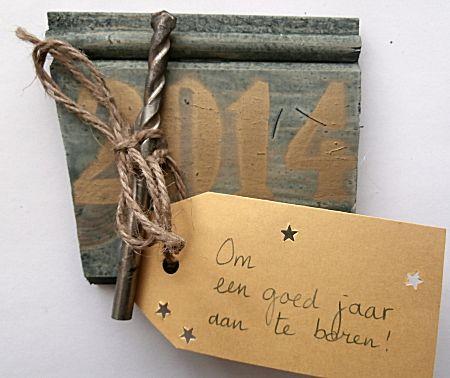 Een goed jaar aanboren als nieuwjaarskaart