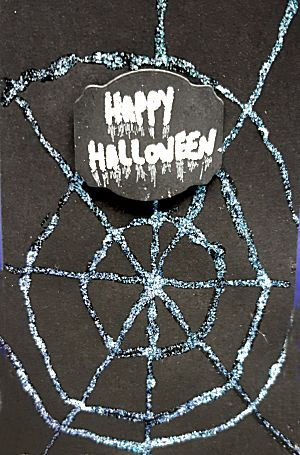 Halloween Spinnenweb kaart