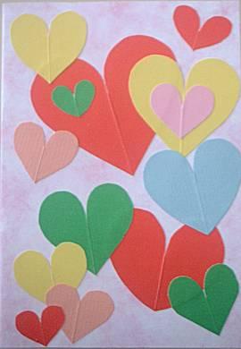 Hartjeskaart (valentijns dag)