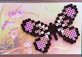 Vlinderkaart met strijkkralen