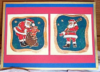 Kerstkaart met stickers