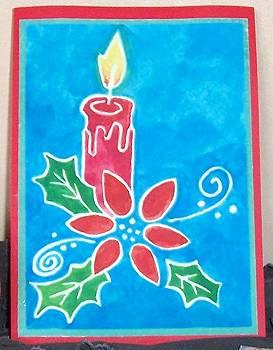 Kerstkaart met aquarel