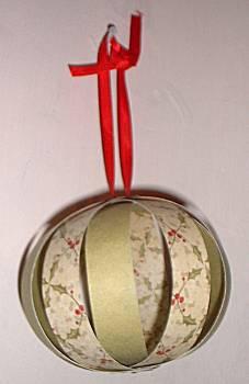 Stroken kerstbal
