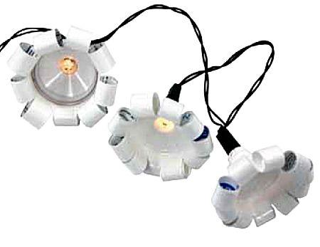 Kerstlampjes van tandpastatubes