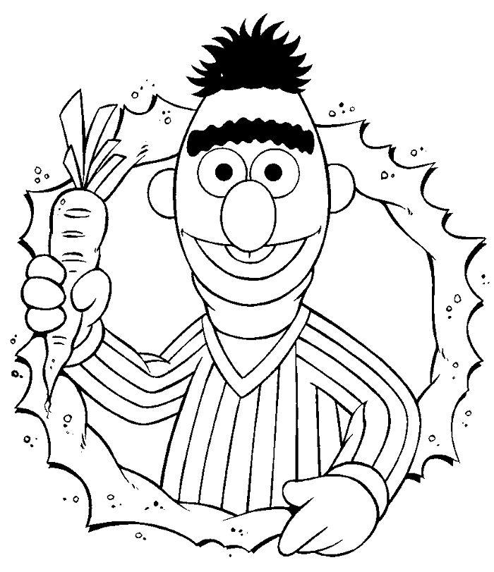 Bert en Ernie - Bert met een wortel