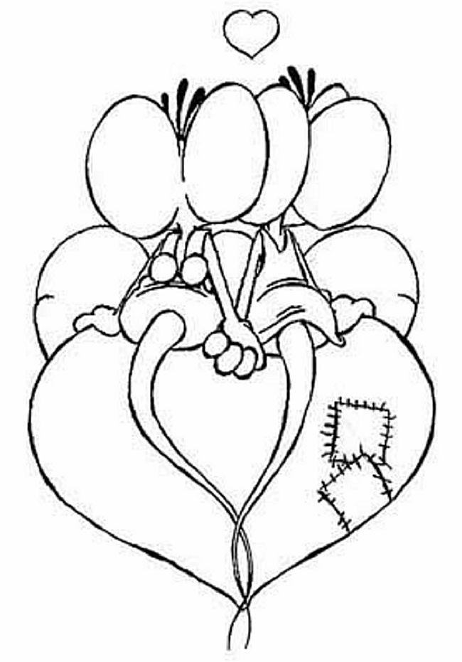 Diddl op een hart