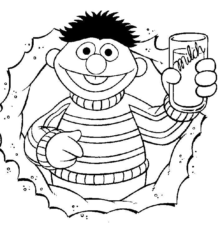 Bert en Ernie - Ernie drinkt melk
