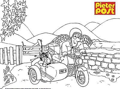 Pieter Post met de motor