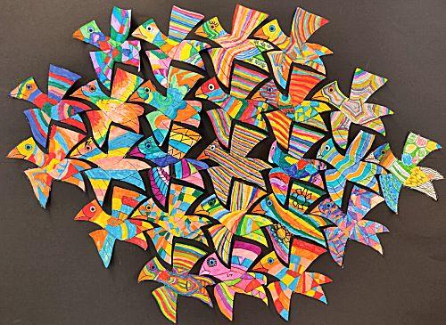 Vliegende vogels (Stijl Escher)