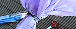 Bos bloemen van crêpepapier