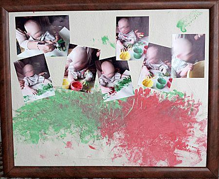 Baby kunstwerk voor moeder