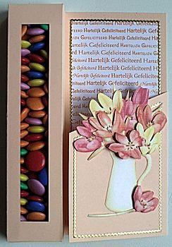 Snoepjes cadeau doen in een wenskaart