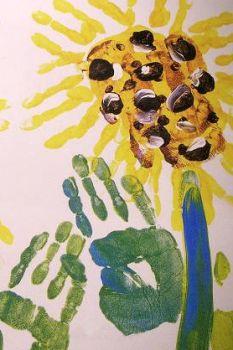 Bloemen met je handen verven