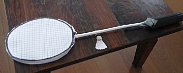 Badminton racket surprise