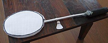 Badminton racket surprise