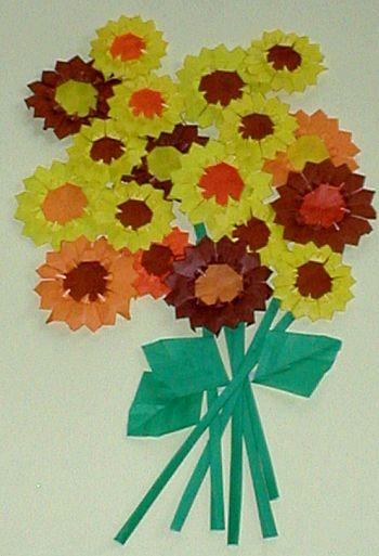 bloemen van vouwblaadjes