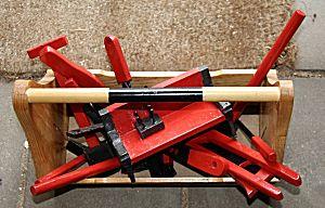Gereedschap van hout - alles in de gereedschapskist