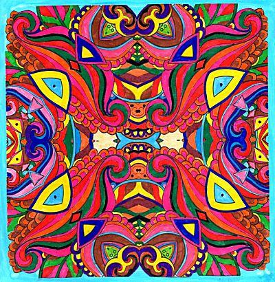 Mandala werkstuk