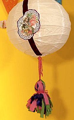 Rijstpapieren lamp en pompoen