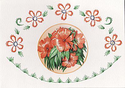 Wenskaarten borduren