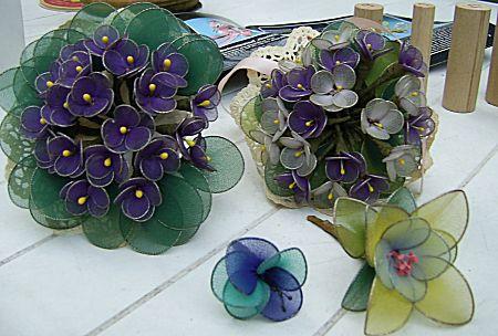 Nylon bloemen