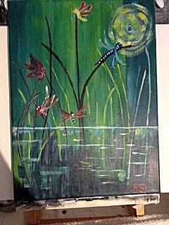 Werkstuk schilderij