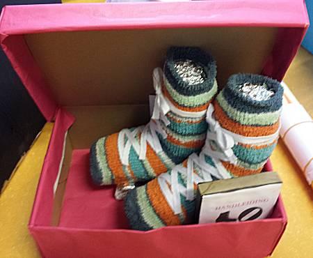 surprise nieuwe schoenen