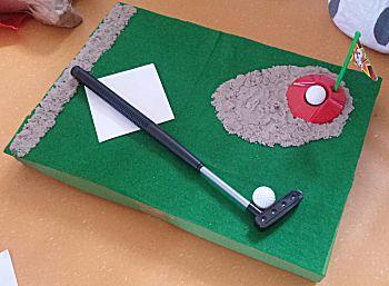 Golfveld met bunker