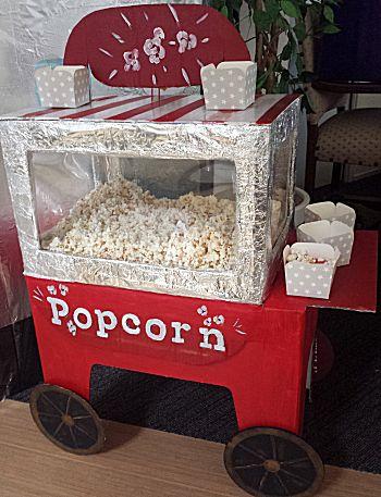 Popcorn verkoopstalletje