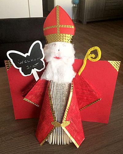 Boek vouwen tot Sinterklaas