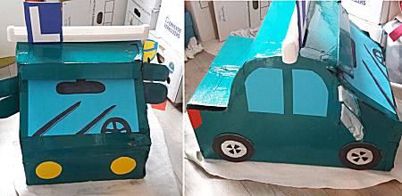 Automodel uit doos