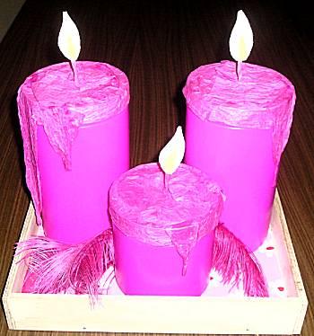 Kaarsen op schaal