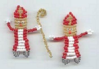 Sinterklaas van kralen