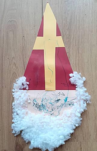 Sinterklaas hoofd maken van papier