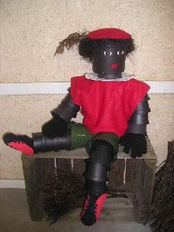 Zwarte Piet van bloempotjes