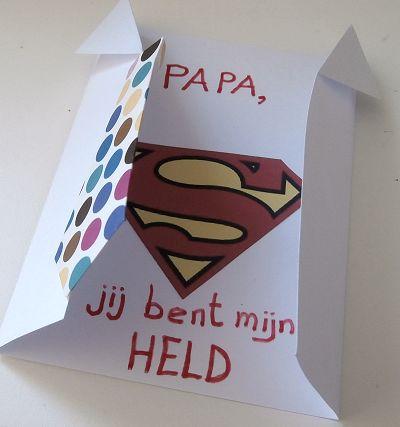 Vader is een held kaart