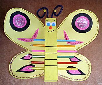 Vlinder voor potloden