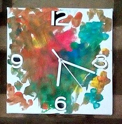 Zelfgemaakte klok