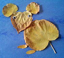 Dieren van herfstbladeren