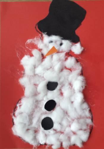 Sneeuwpop van watten
